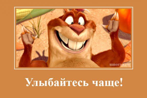 демотиватор с улыбающимся бобром