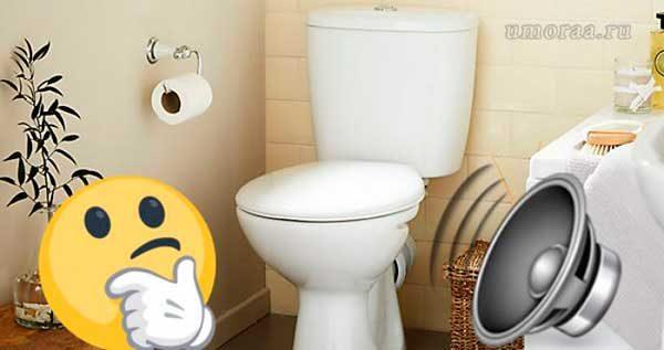 смайлик в туалете с музыкой
