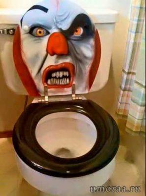 туалет - злой клоун